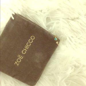 Zoe Chicco 14k turquoise & bezel diamond open ring
